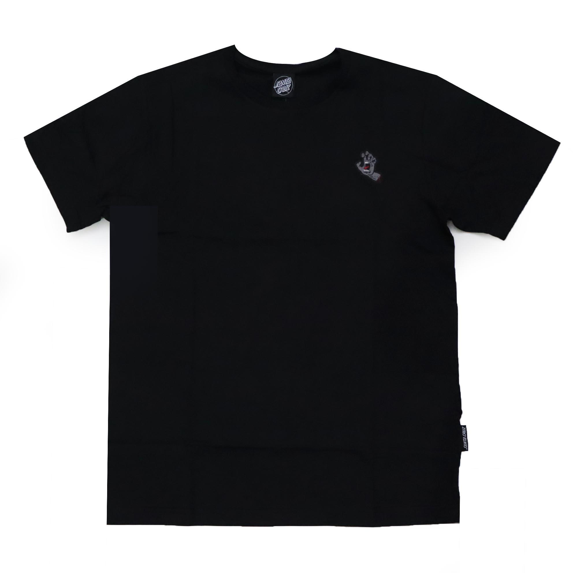 Camiseta Santa Cruz Screaming Hand Chest - Preto