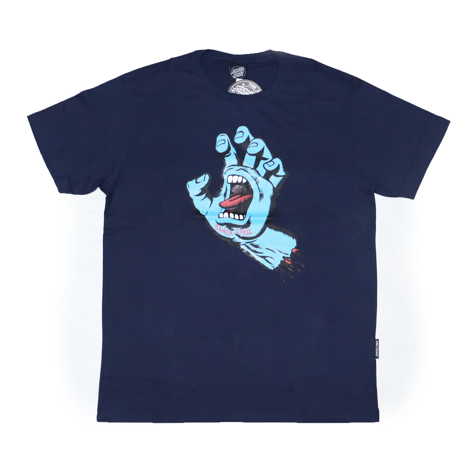 Camiseta Santa Cruz Screaming Hand Front - Azul Marinho/Azul