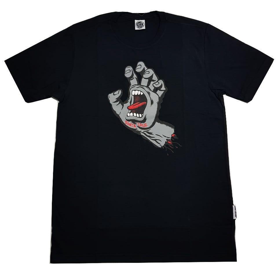 Camiseta Santa Cruz Screaming Hand Preto/Cinza