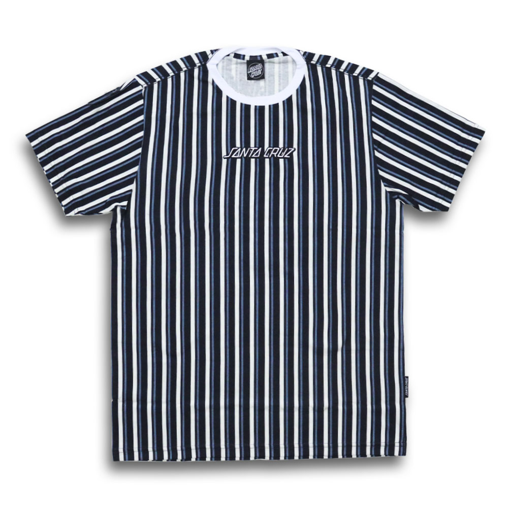 Camiseta Santa Cruz Striped - Azul Marinho