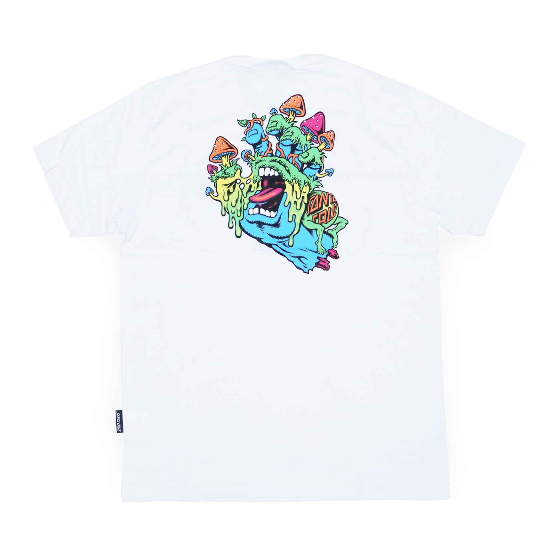 Camiseta Santa Cruz Toxic Hand - Branco