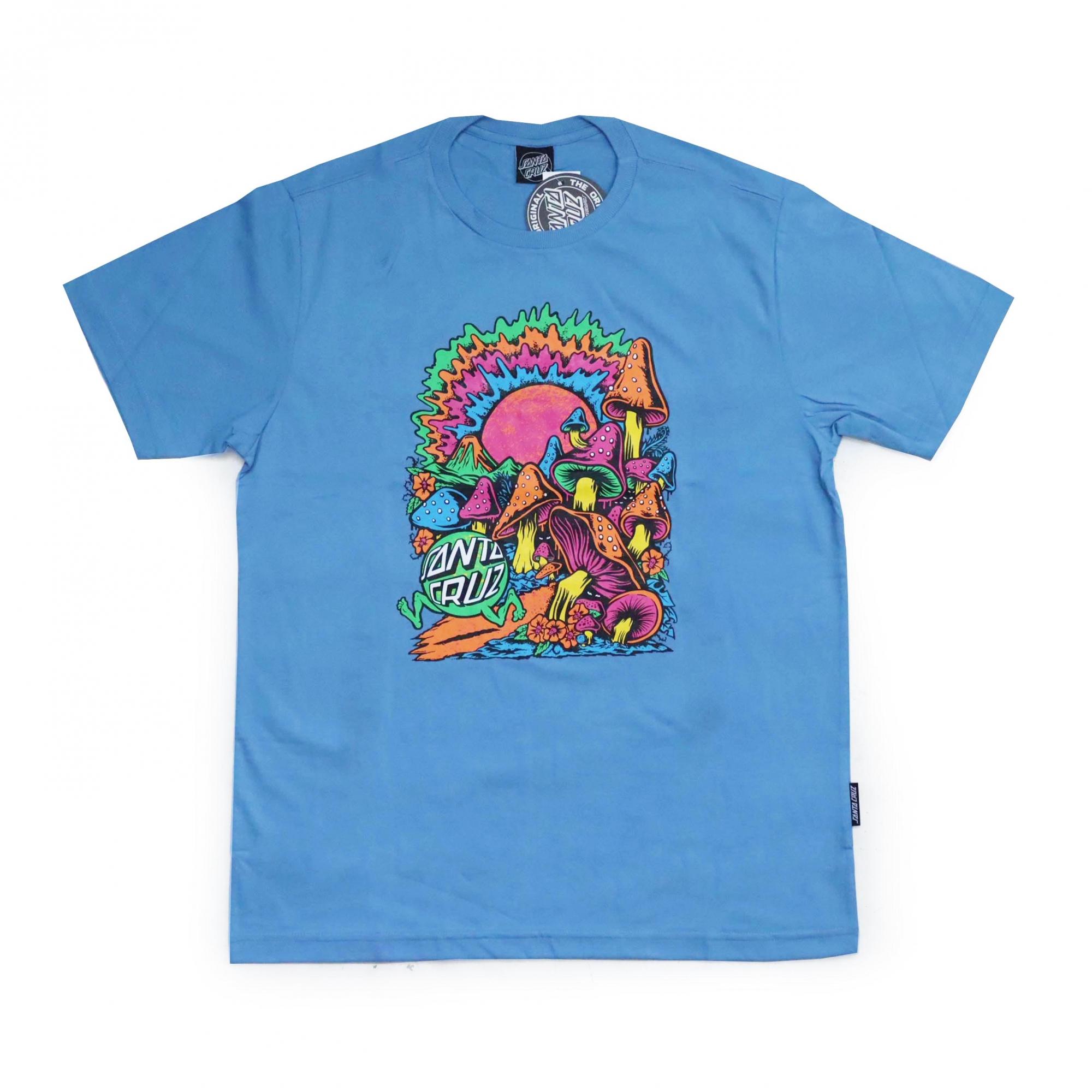 Camiseta Santa Cruz Toxic Wasteland - Azul Claro