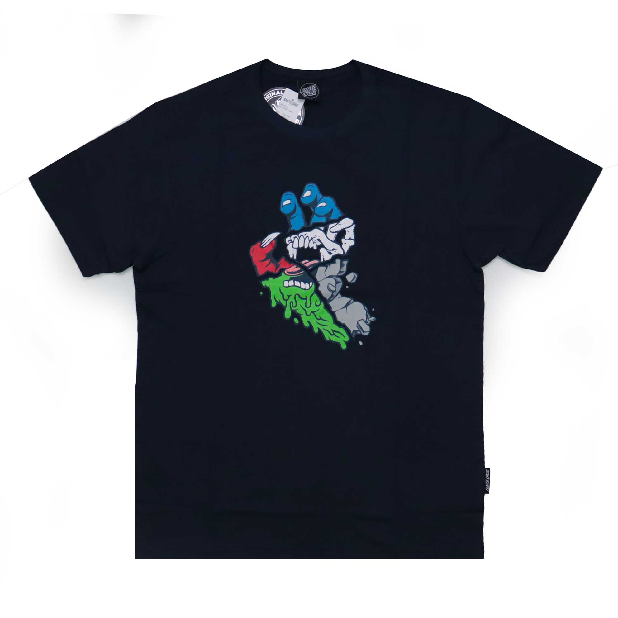 Camiseta Santa Cruz Universal Hand - Azul Marinho