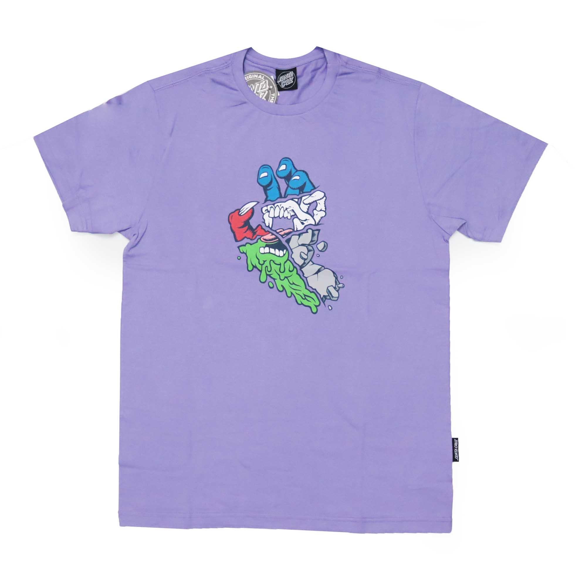 Camiseta Santa Cruz Universal Hand - Lilás