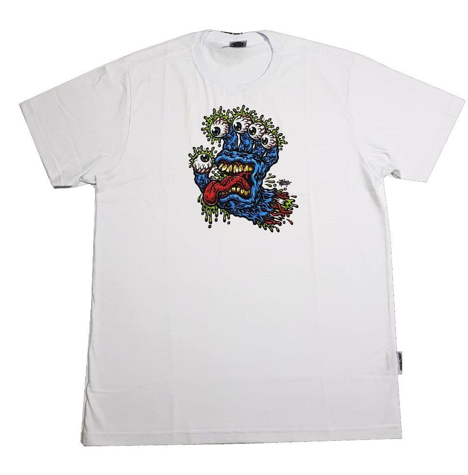 Camiseta Santa Cruz Younth Gnar Hand White