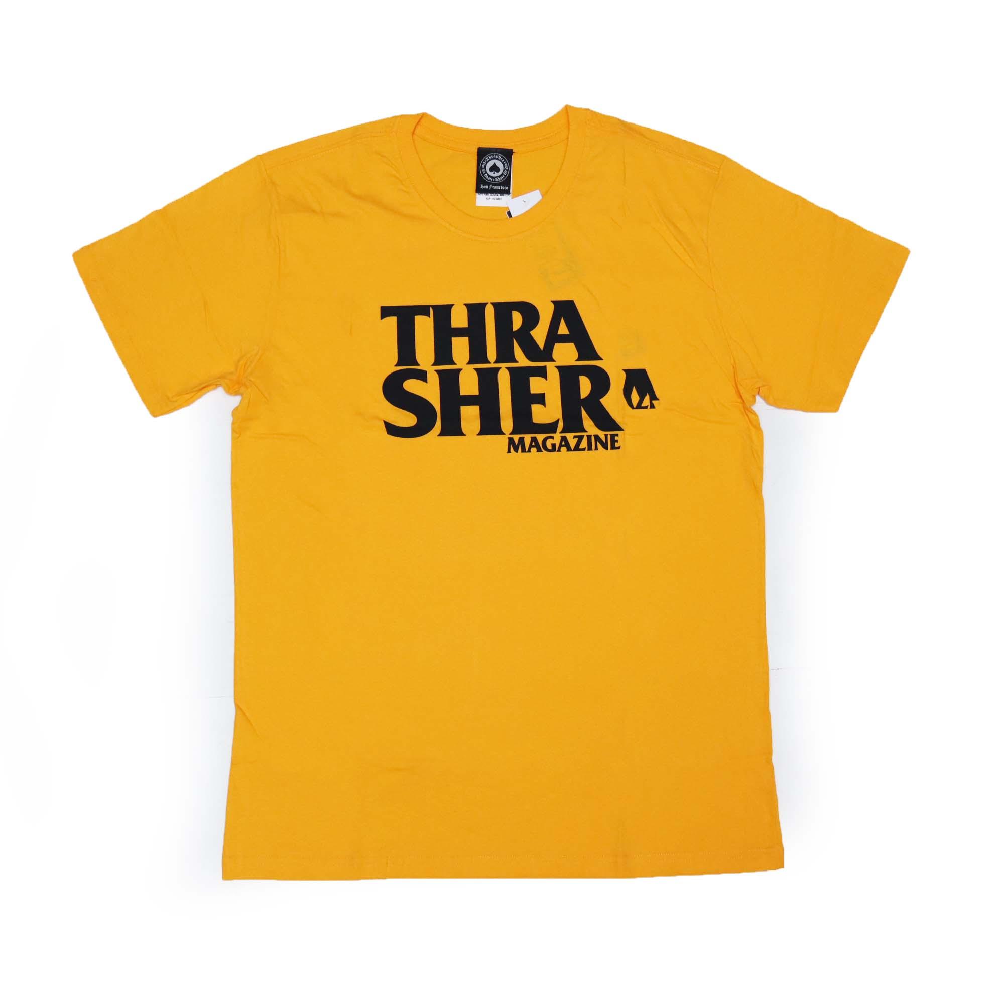 Camiseta Thrasher Magazine Anti Logo - Amarelo/Preto