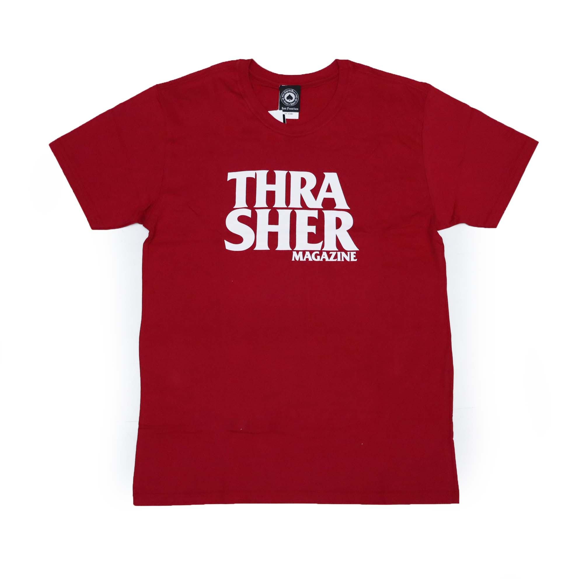 Camiseta Thrasher Magazine Anti Logo - Vermelho Bordô/Branco