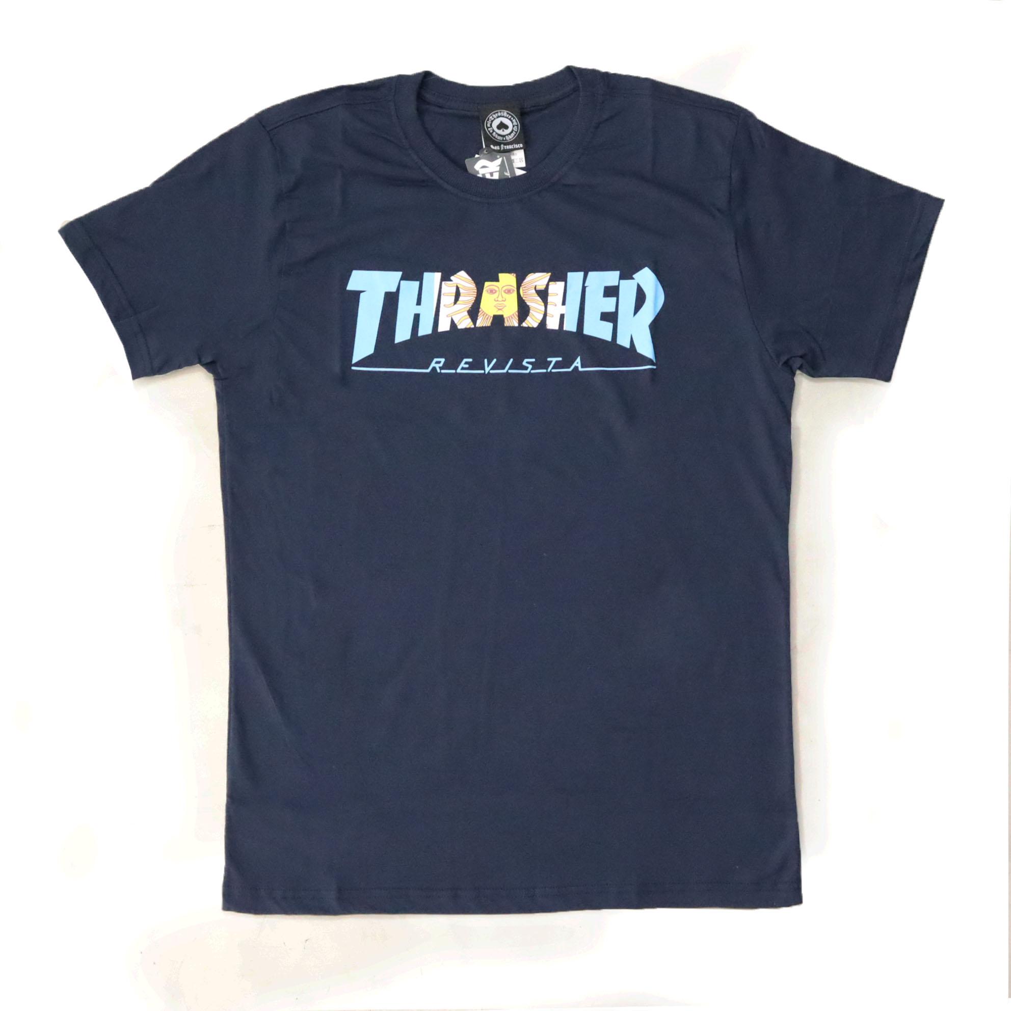 Camiseta Thrasher Magazine Argentina - Azul Marinho