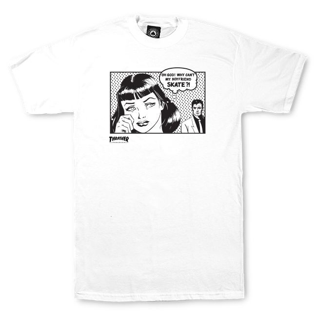 Camiseta Thrasher Magazine Boyfriend White