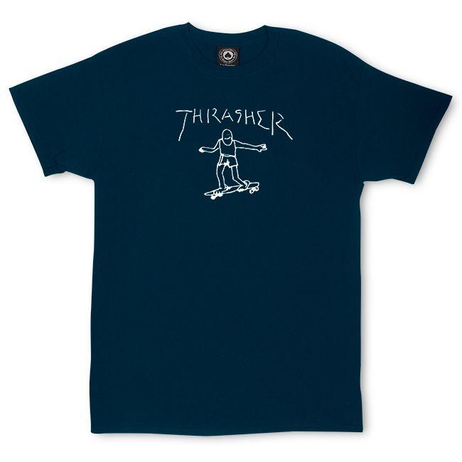 Camiseta Thrasher Magazine By Mark Gonzales - Azul Marinho