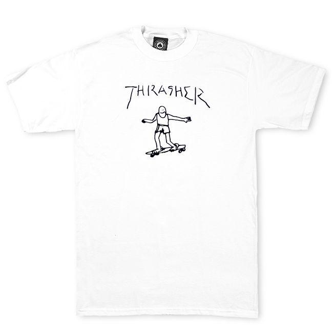 Camiseta Thrasher Magazine By Mark Gonzales White