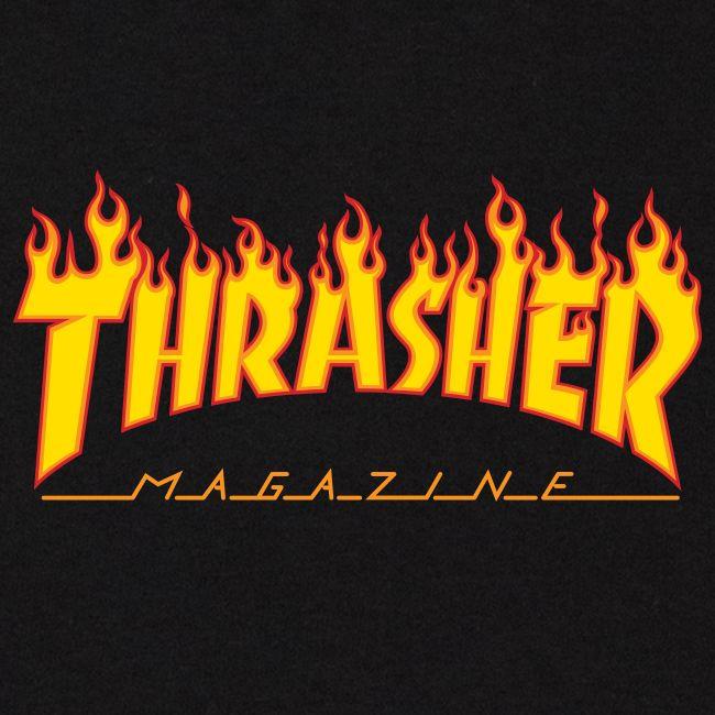 Camiseta Thrasher Magazine Classic Flame Black