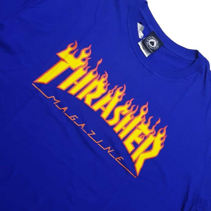 Camiseta Thrasher Magazine Classic Flame Royal
