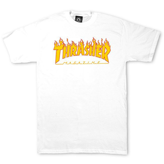 Camiseta Thrasher Magazine Classic Flame White