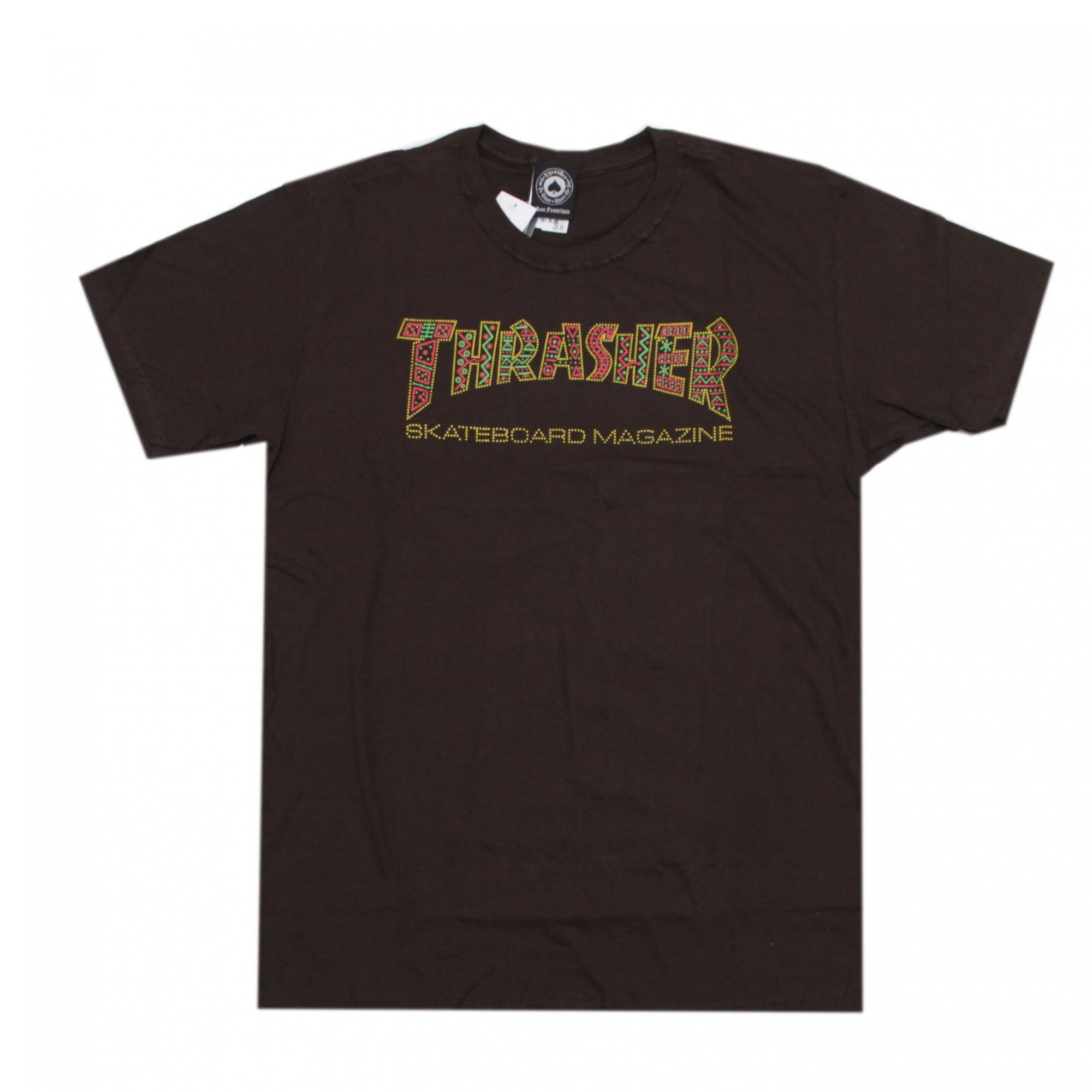 Camiseta Thrasher Magazine Davis Skate Marrom