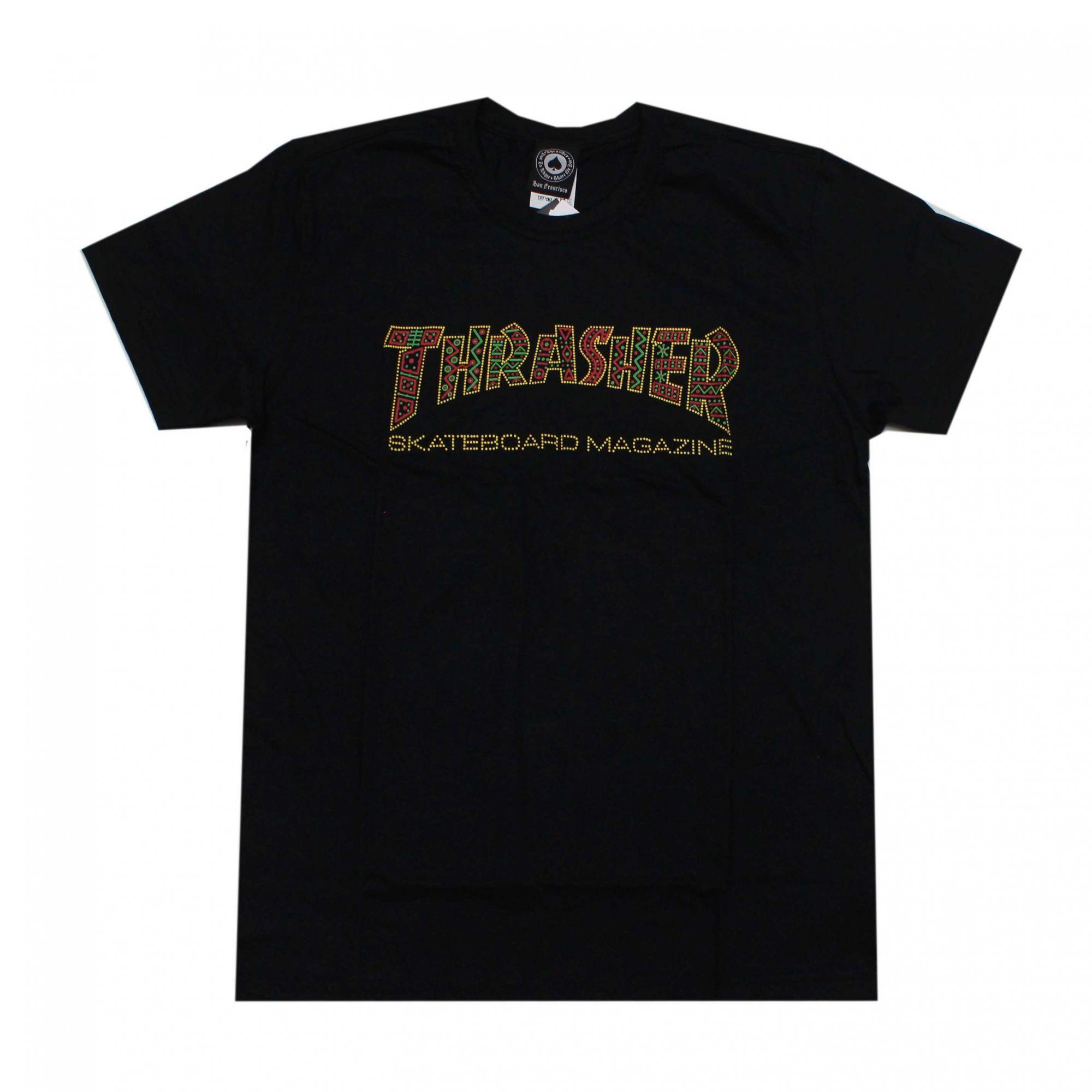 Camiseta Thrasher Magazine Davis Skate Preto