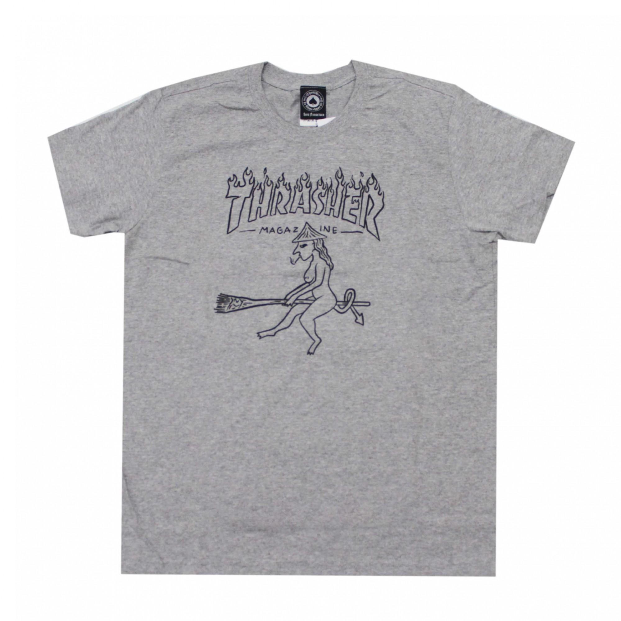 Camiseta Thrasher Magazine Drunk Witch - Cinza Mescla