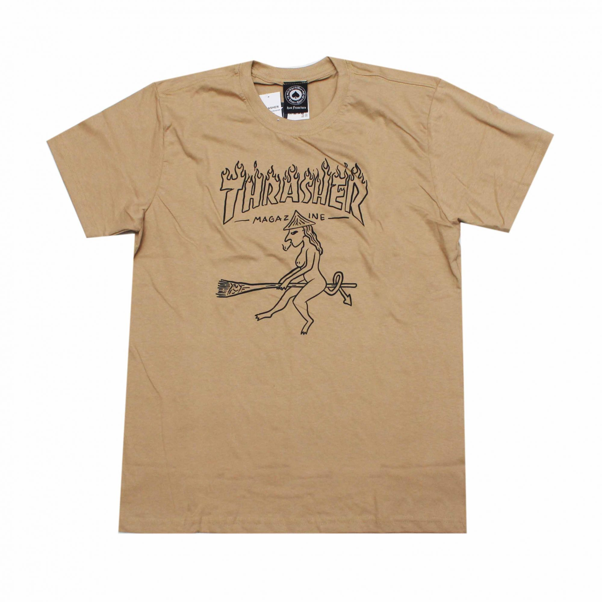 Camiseta Thrasher Magazine Drunk Witch Khaki