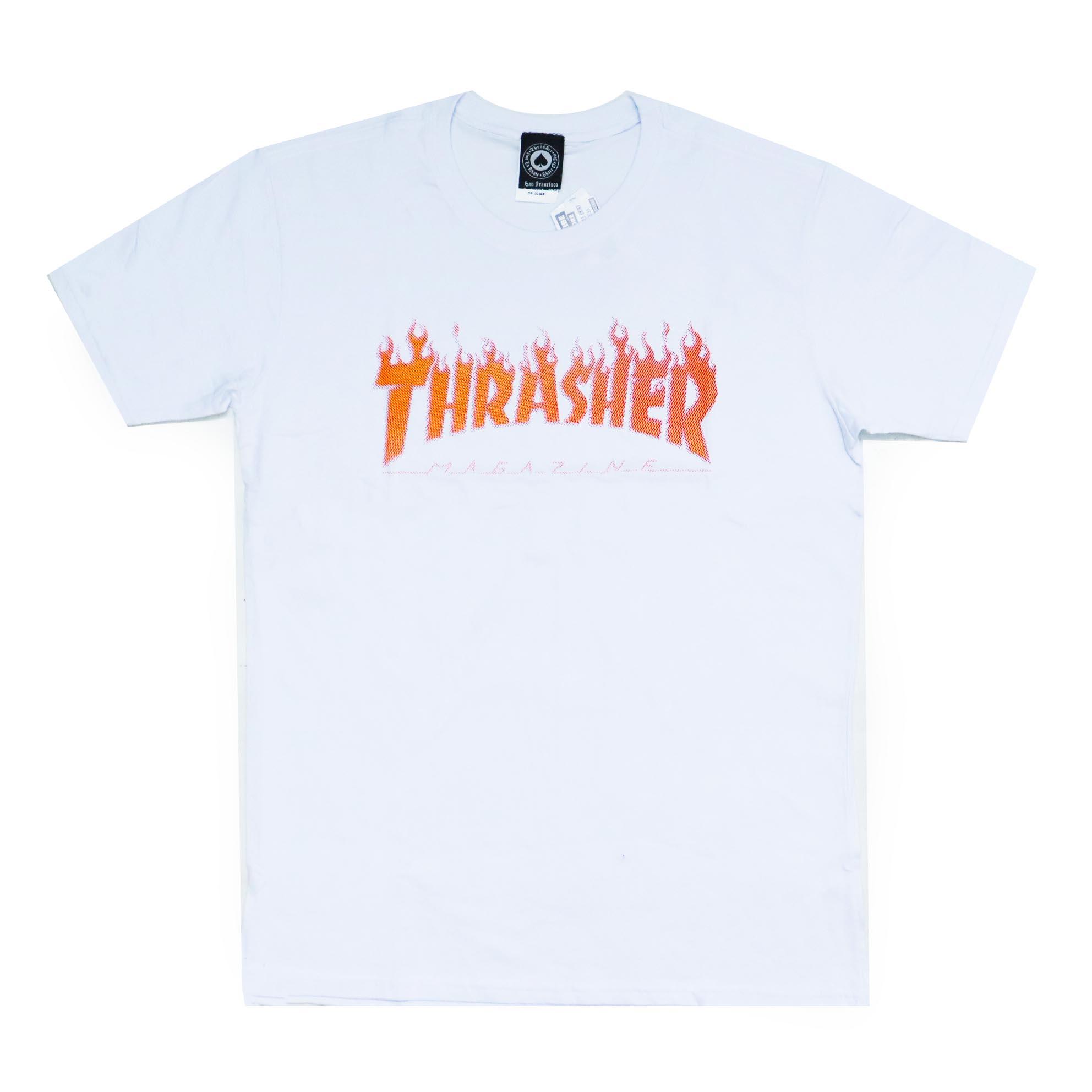 Camiseta Thrasher Magazine Flame Halftone - Branco