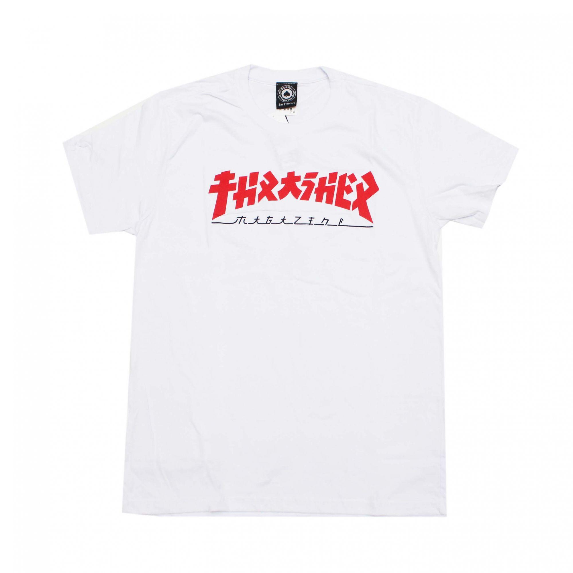 Camiseta Thrasher Magazine Godzilla Branco
