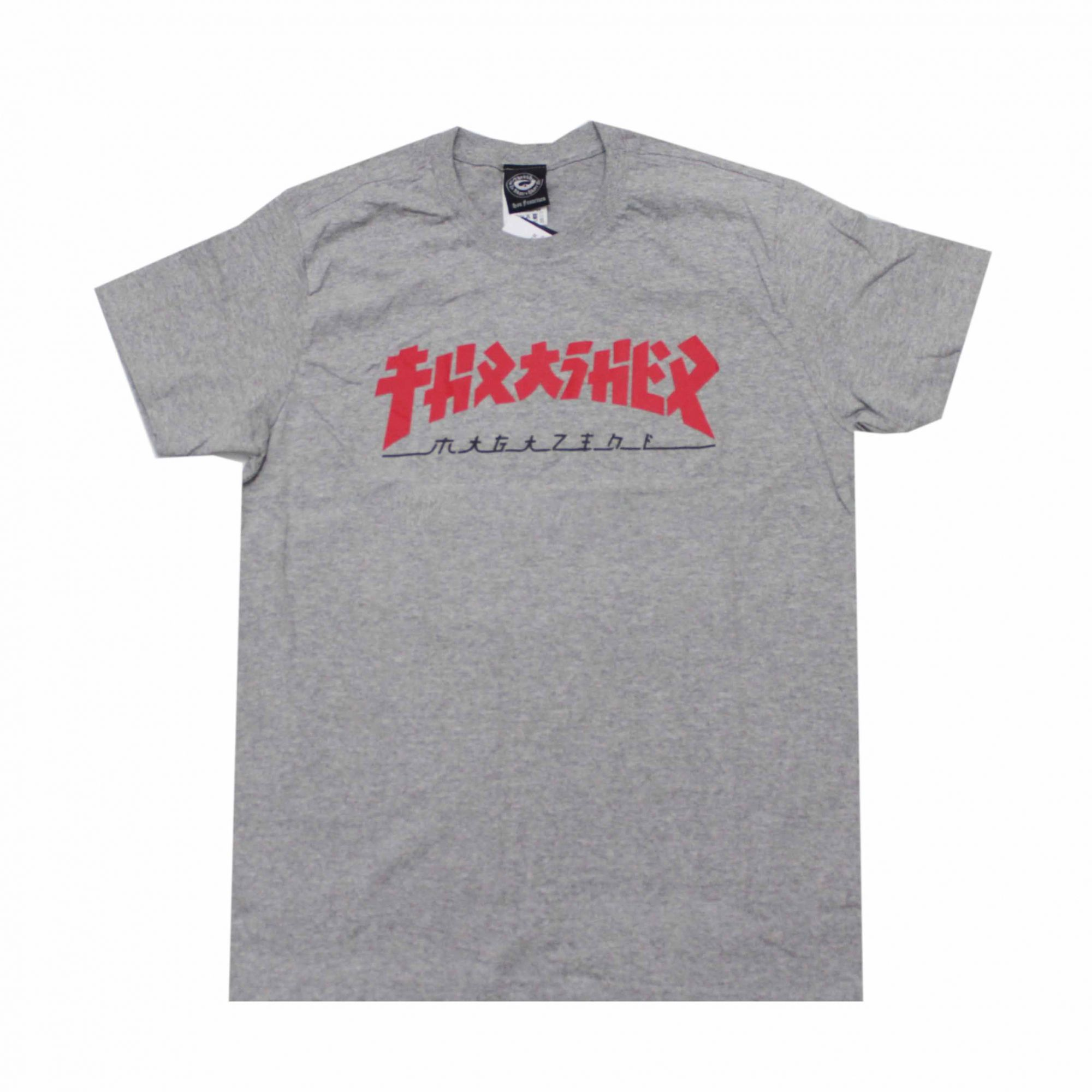 Camiseta Thrasher Magazine Godzilla Cinza Mescla