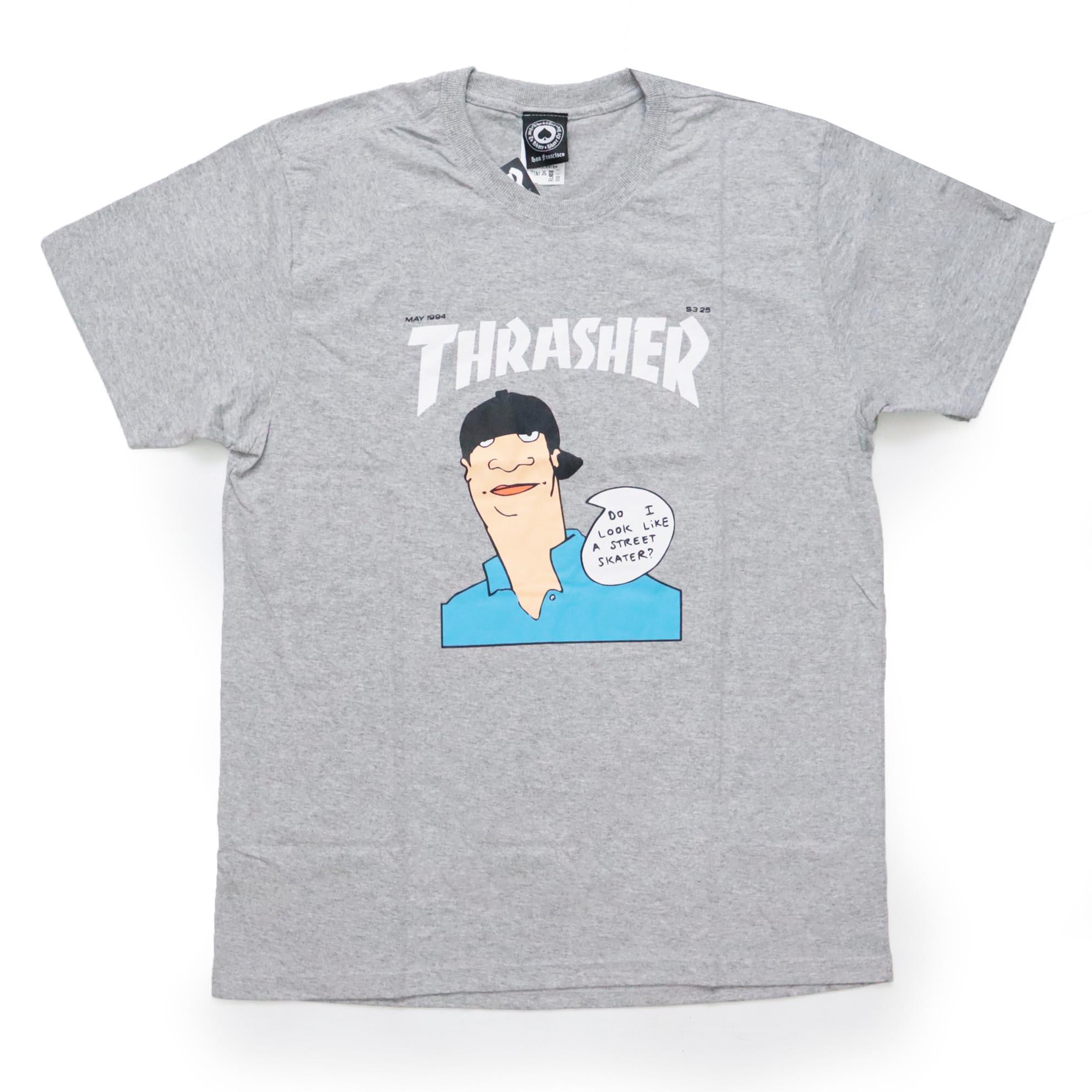 Camiseta Thrasher Magazine Gonz Cover Heliconia - Cinza Mescla