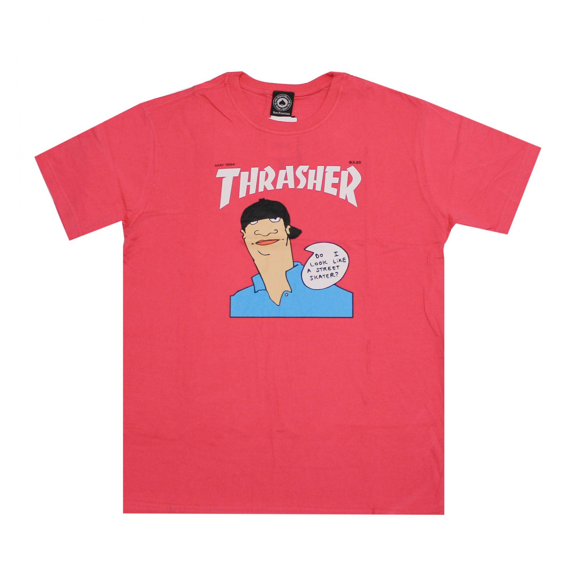 Camiseta Thrasher Magazine Gonz Cover Heliconia Rosa Pink