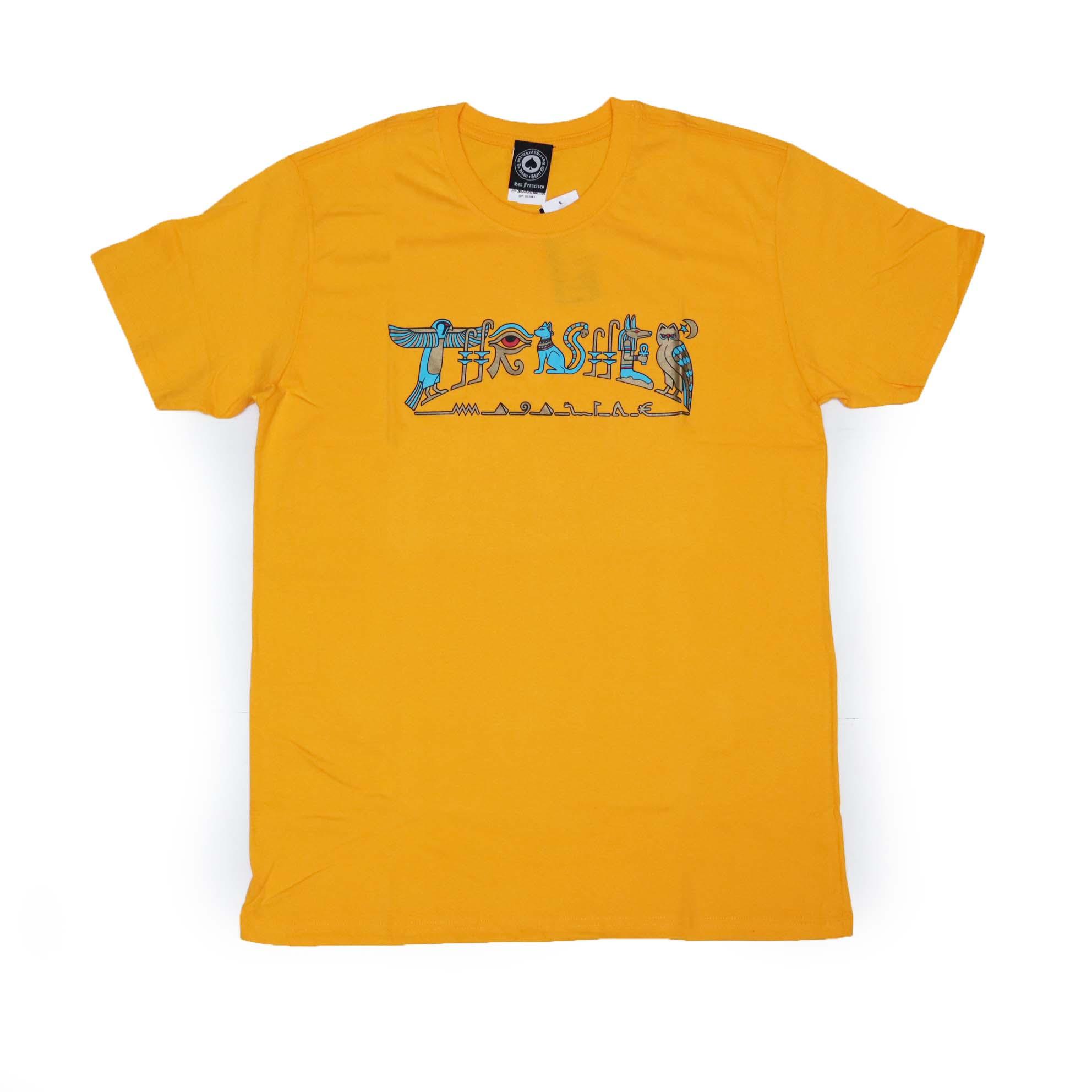 Camiseta Thrasher Magazine Hieroglyphics - Amarelo