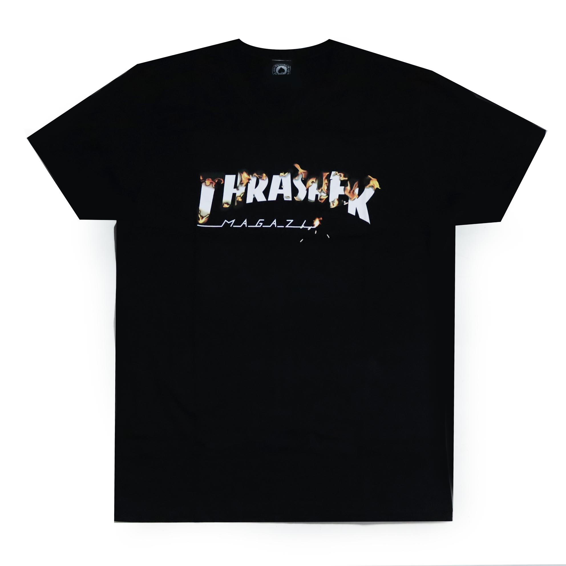 Camiseta Thrasher Magazine Intro Burner - Preto