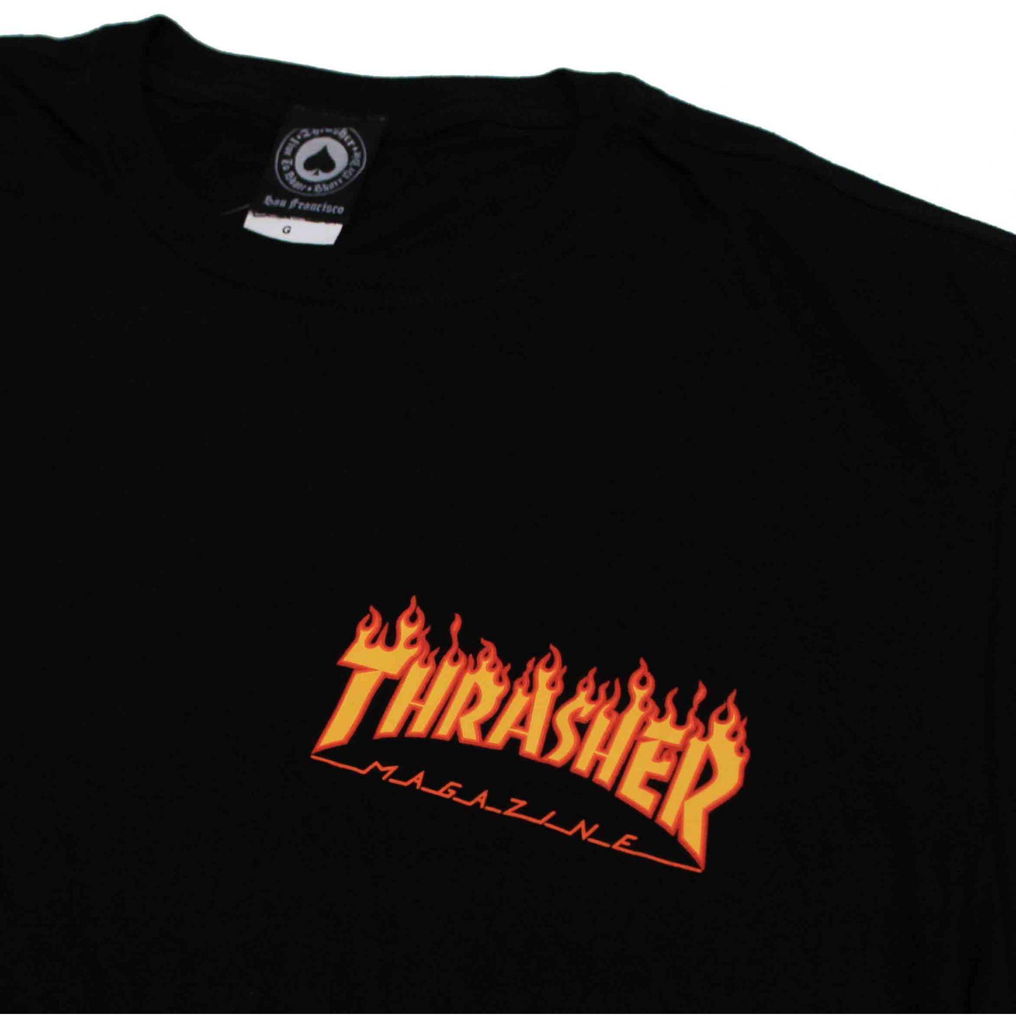 Camiseta Thrasher Magazine Mini Flame Black