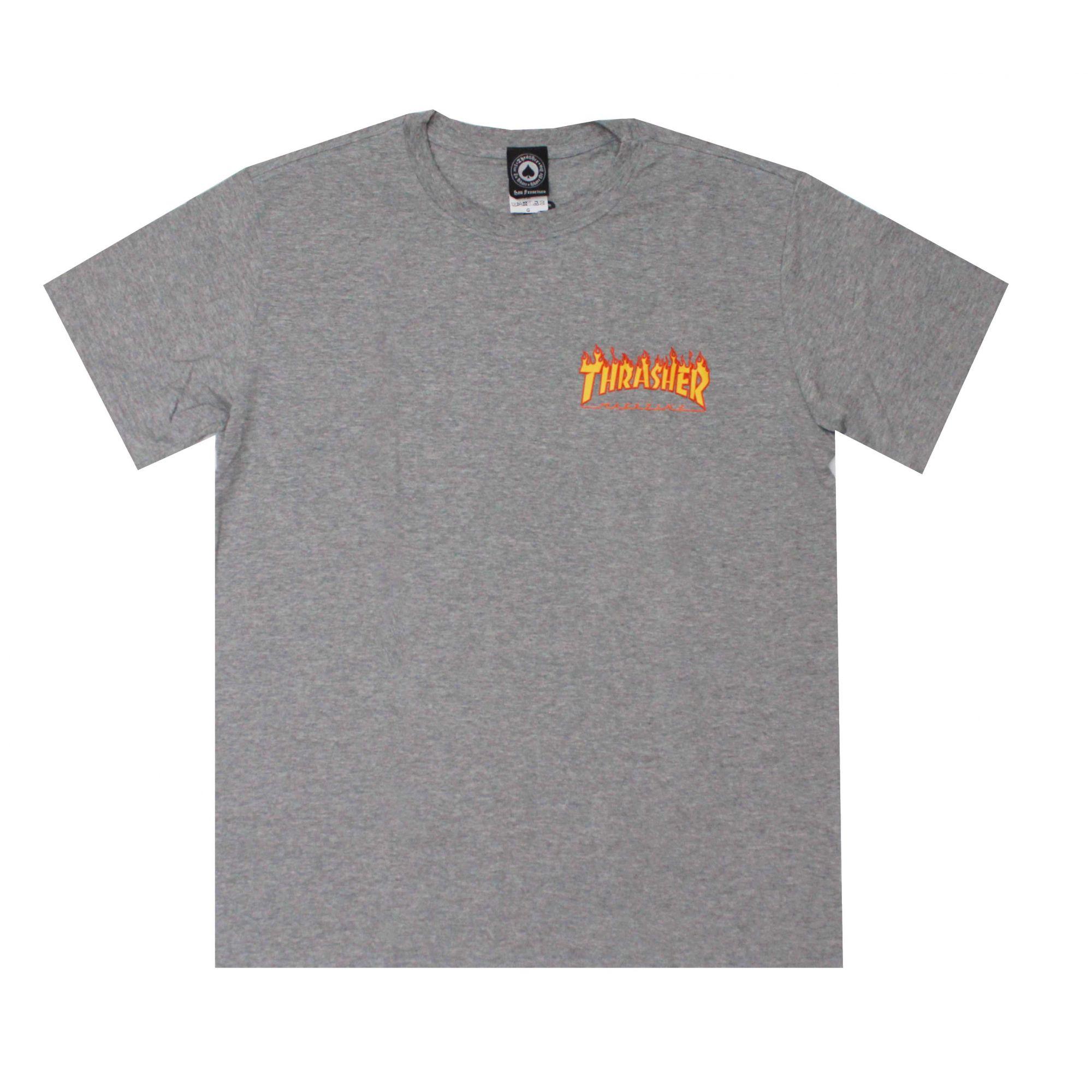 Camiseta Thrasher Magazine Mini Flame Grey