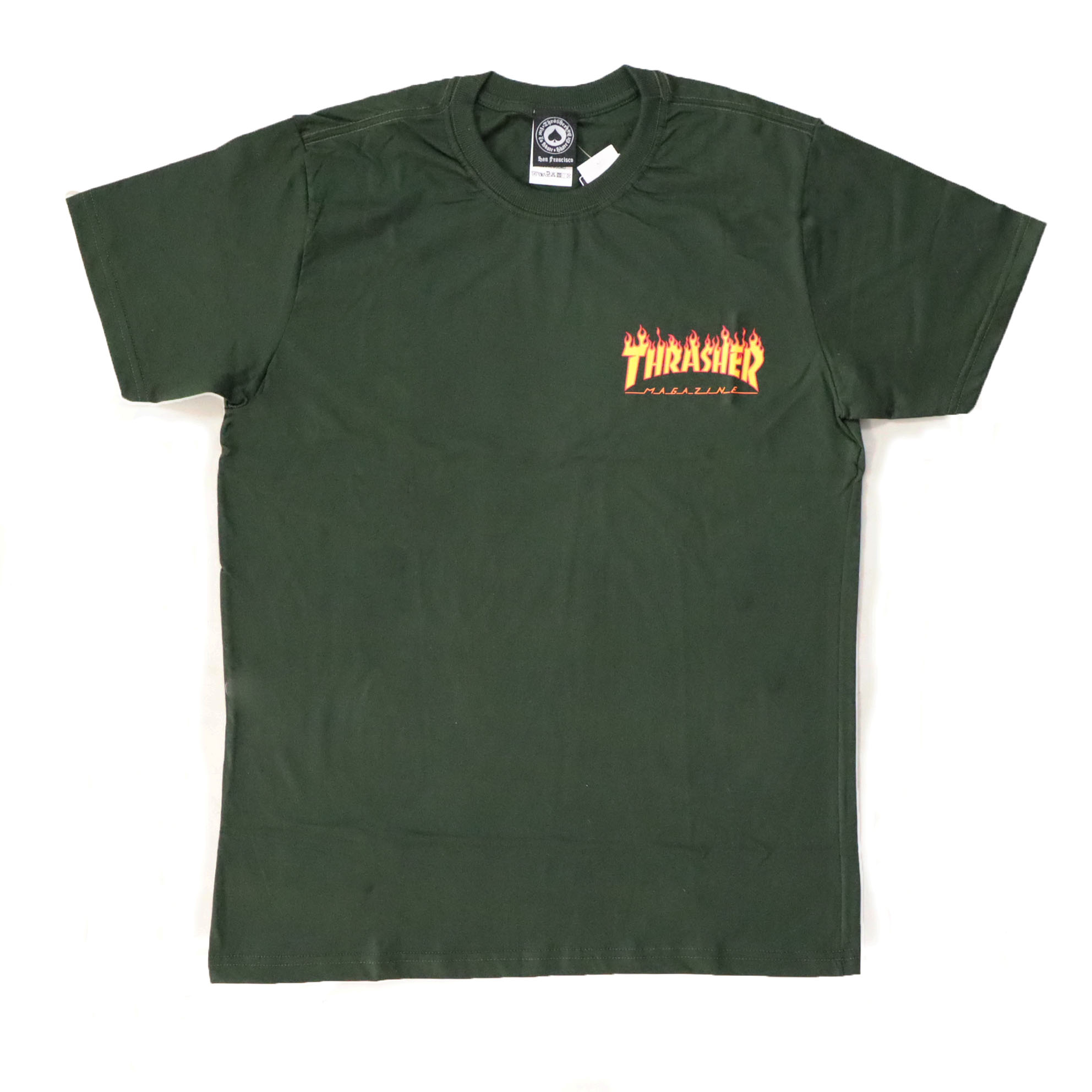 Camiseta Thrasher Magazine Mini Flame - Verde Florest