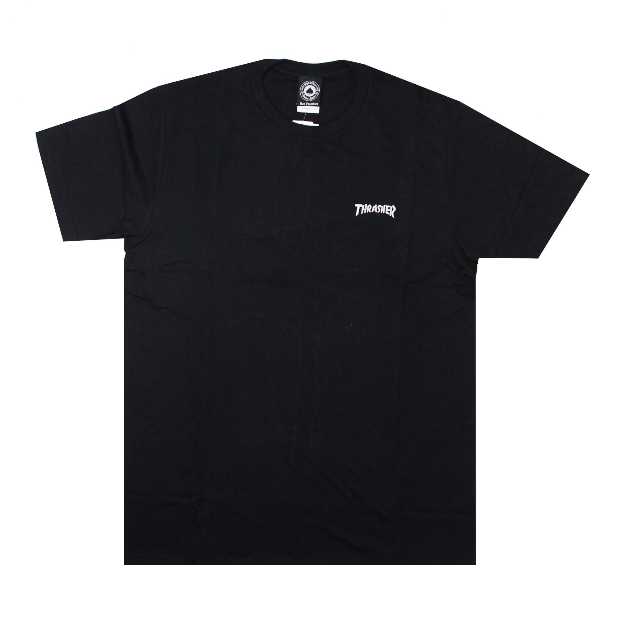 Camiseta Thrasher Magazine Mini Logo Bordado Preto