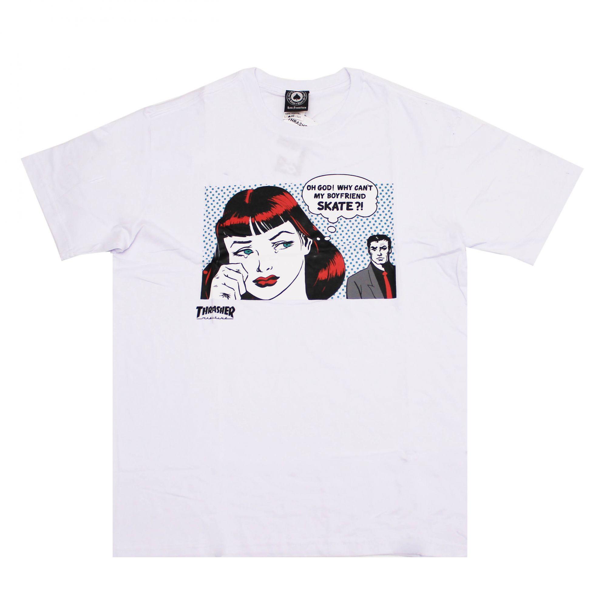Camiseta Thrasher Magazine New Boyfriend Branco