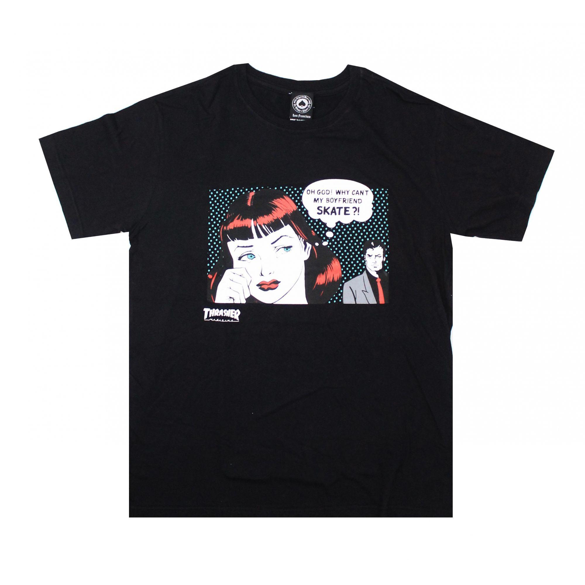 Camiseta Thrasher Magazine New Boyfriend - Preto