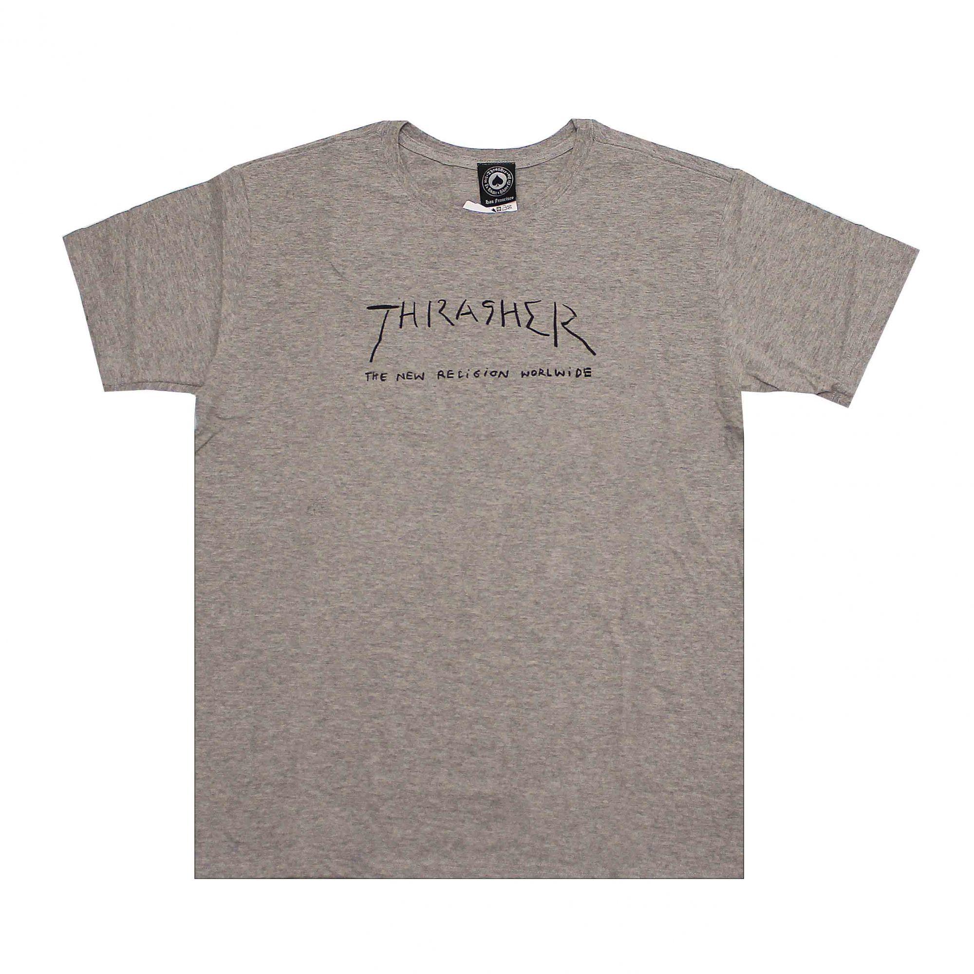 Camiseta Thrasher Magazine New Religion Cinza Mescla