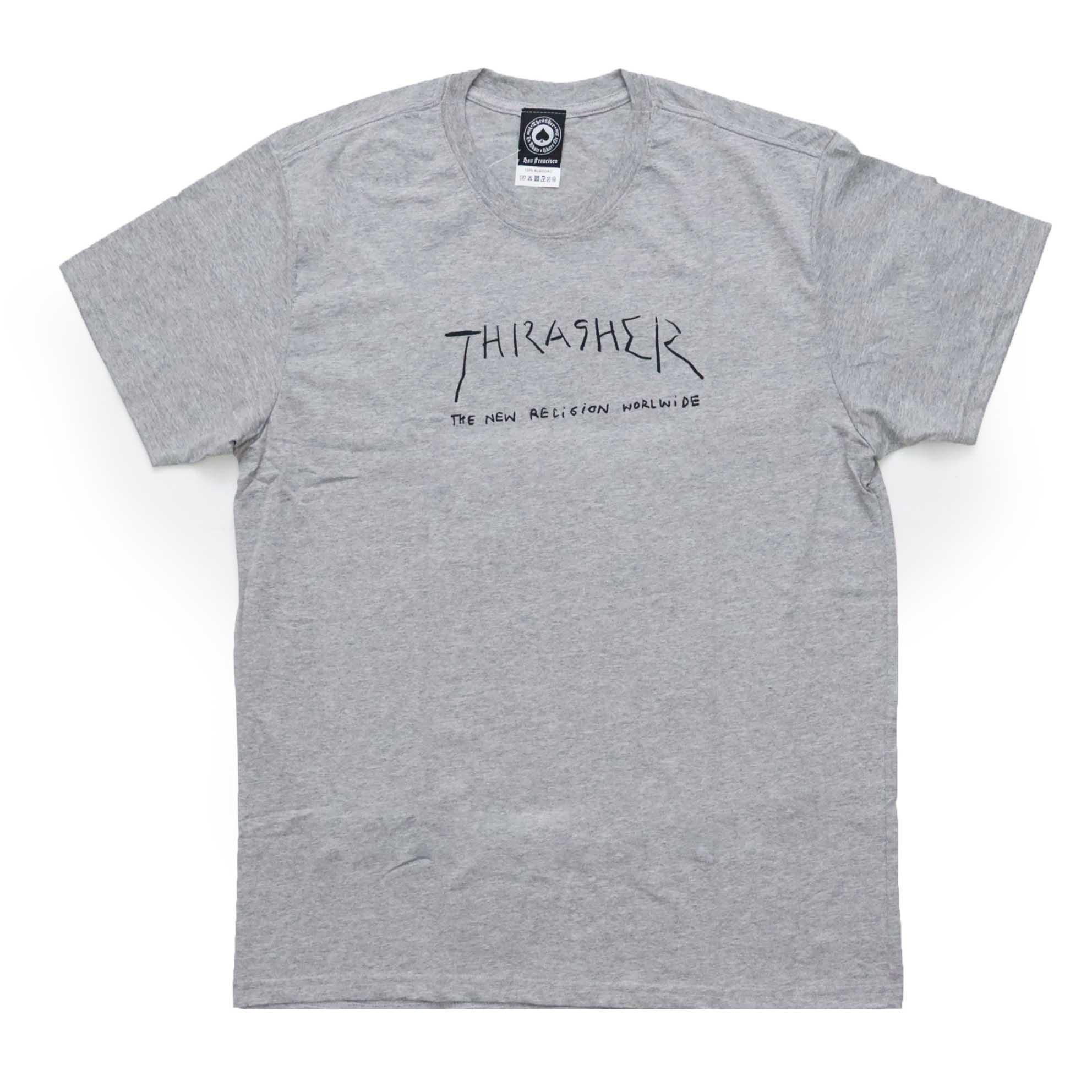 Camiseta Thrasher Magazine New Religion - Cinza Mescla