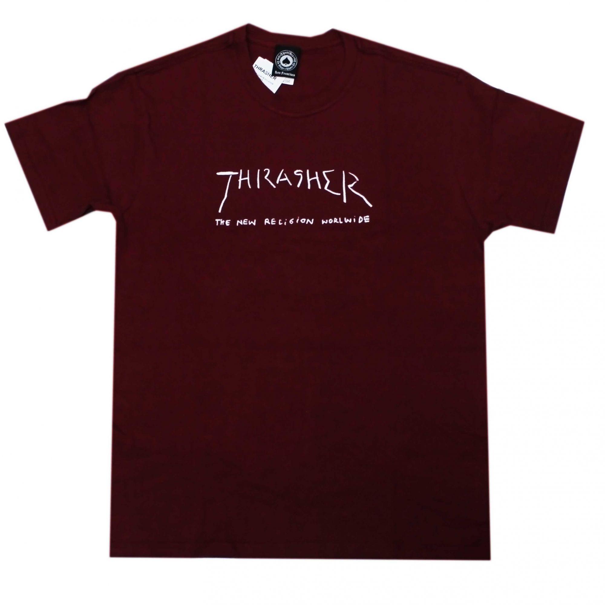 Camiseta Thrasher Magazine New Religion Vinho