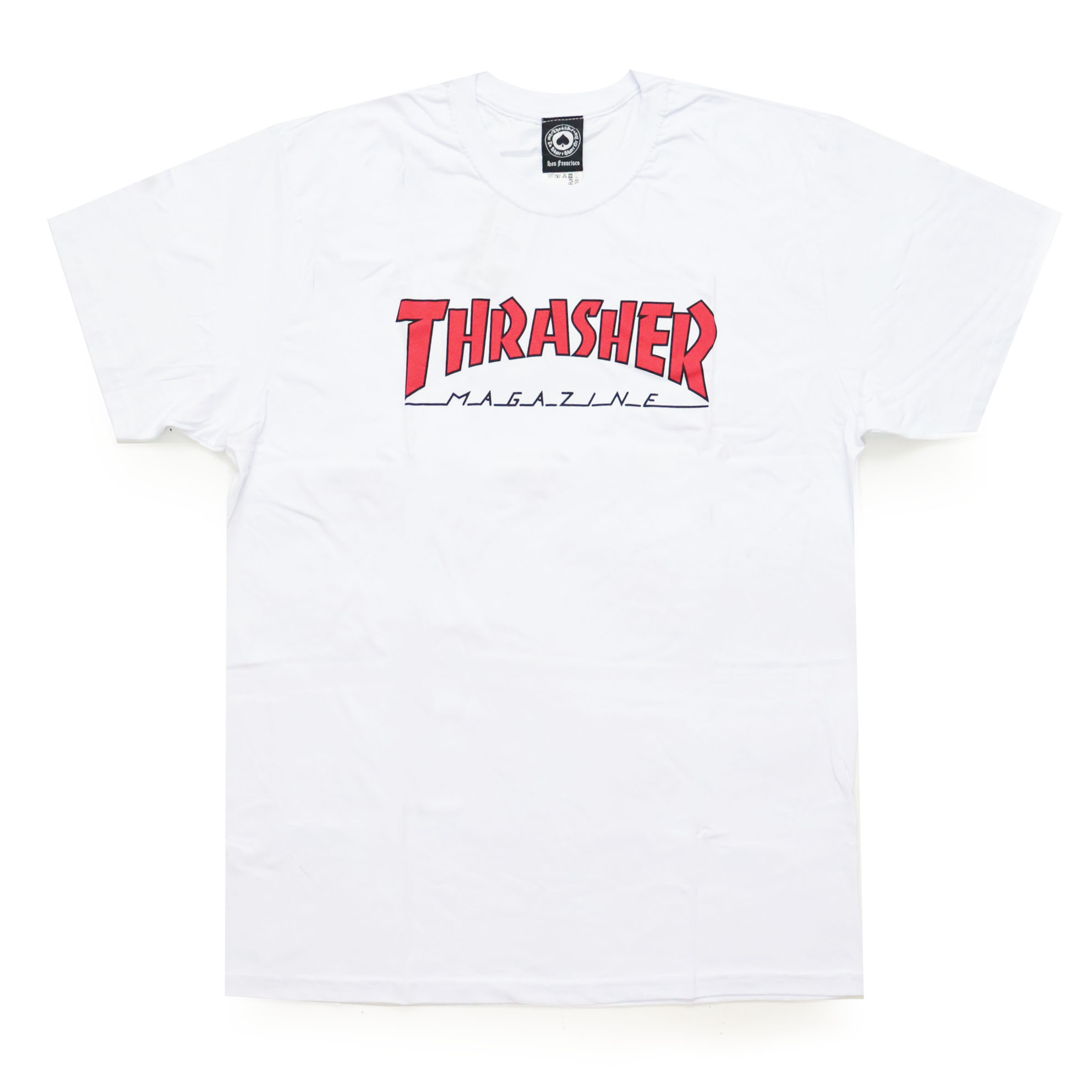 Camiseta Thrasher Magazine Outlined - Branco/Vermelho