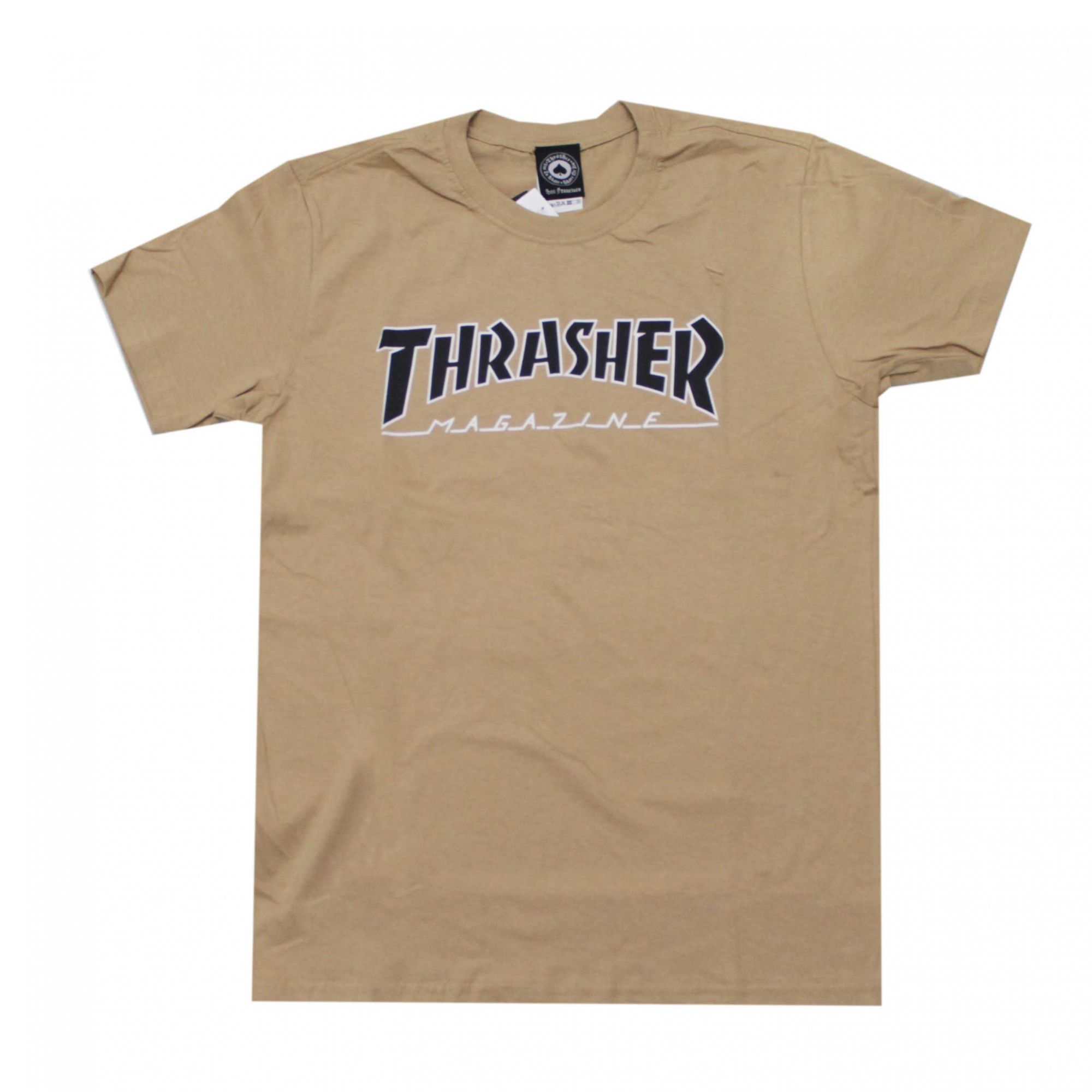 Camiseta Thrasher Magazine Outlined Khaki/Preto
