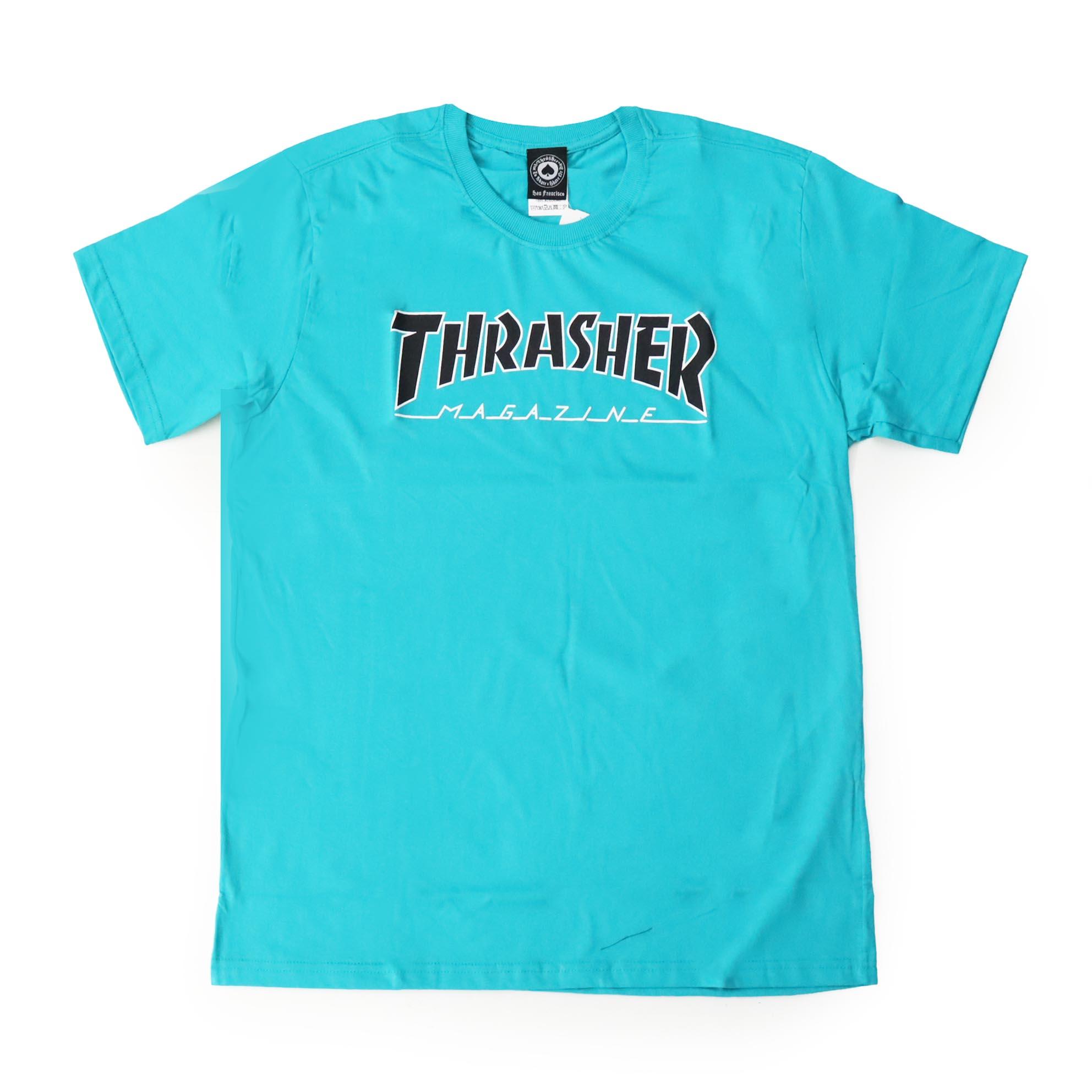 Camiseta Thrasher Magazine Outlined - Verde Jade