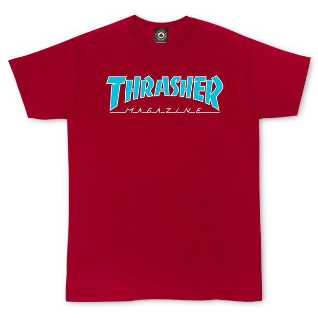Camiseta Thrasher Magazine Outlined - Vermelho