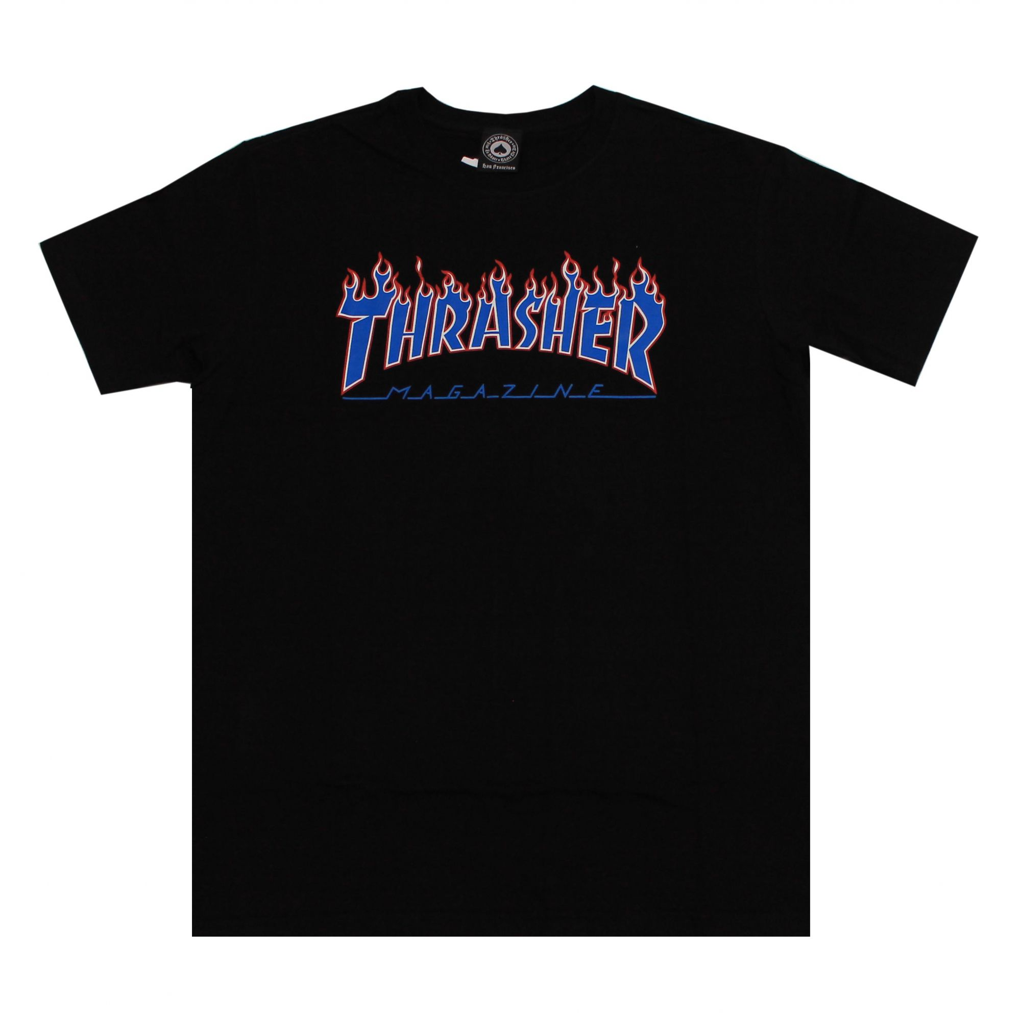 Camiseta Thrasher Magazine Patriot Flame Preto