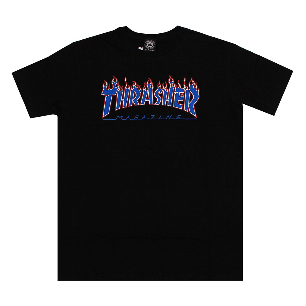 Camiseta Thrasher Magazine Patriot Flame - Preto