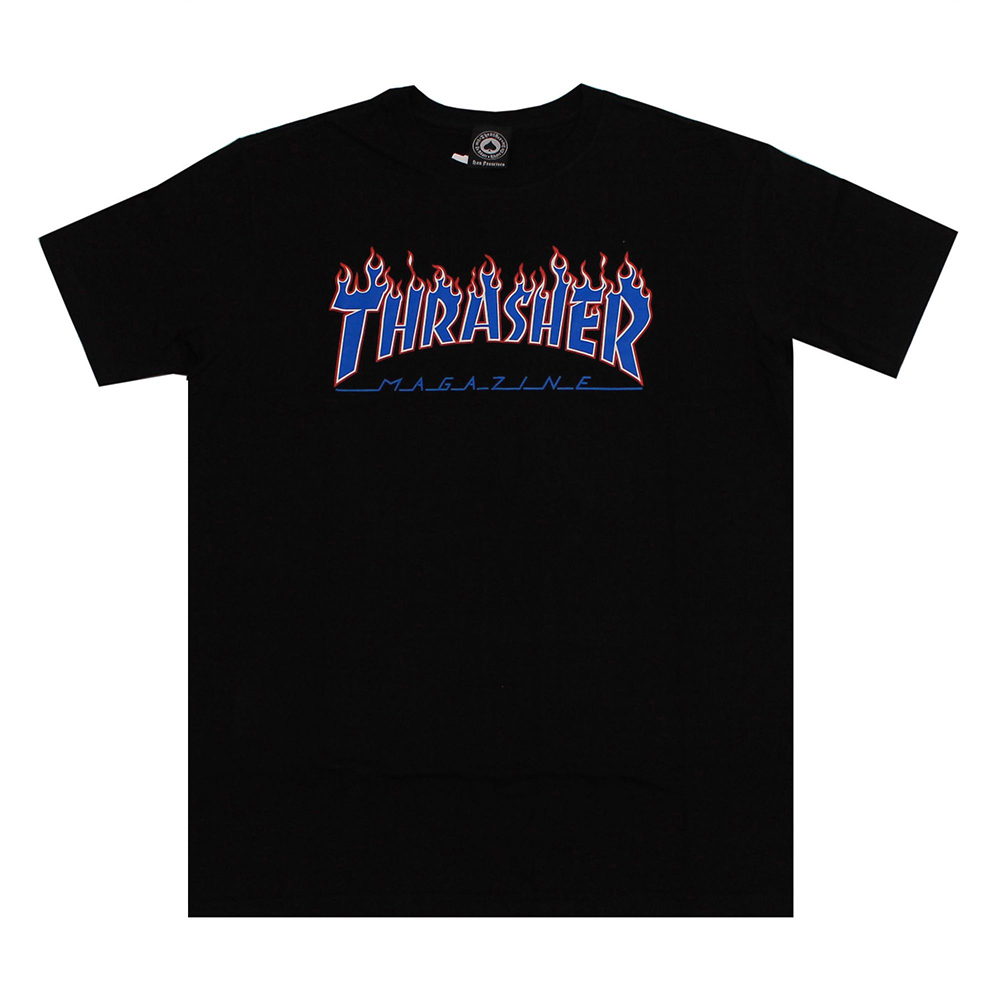 Camiseta Thrasher Magazine Patriot Flame - Preto