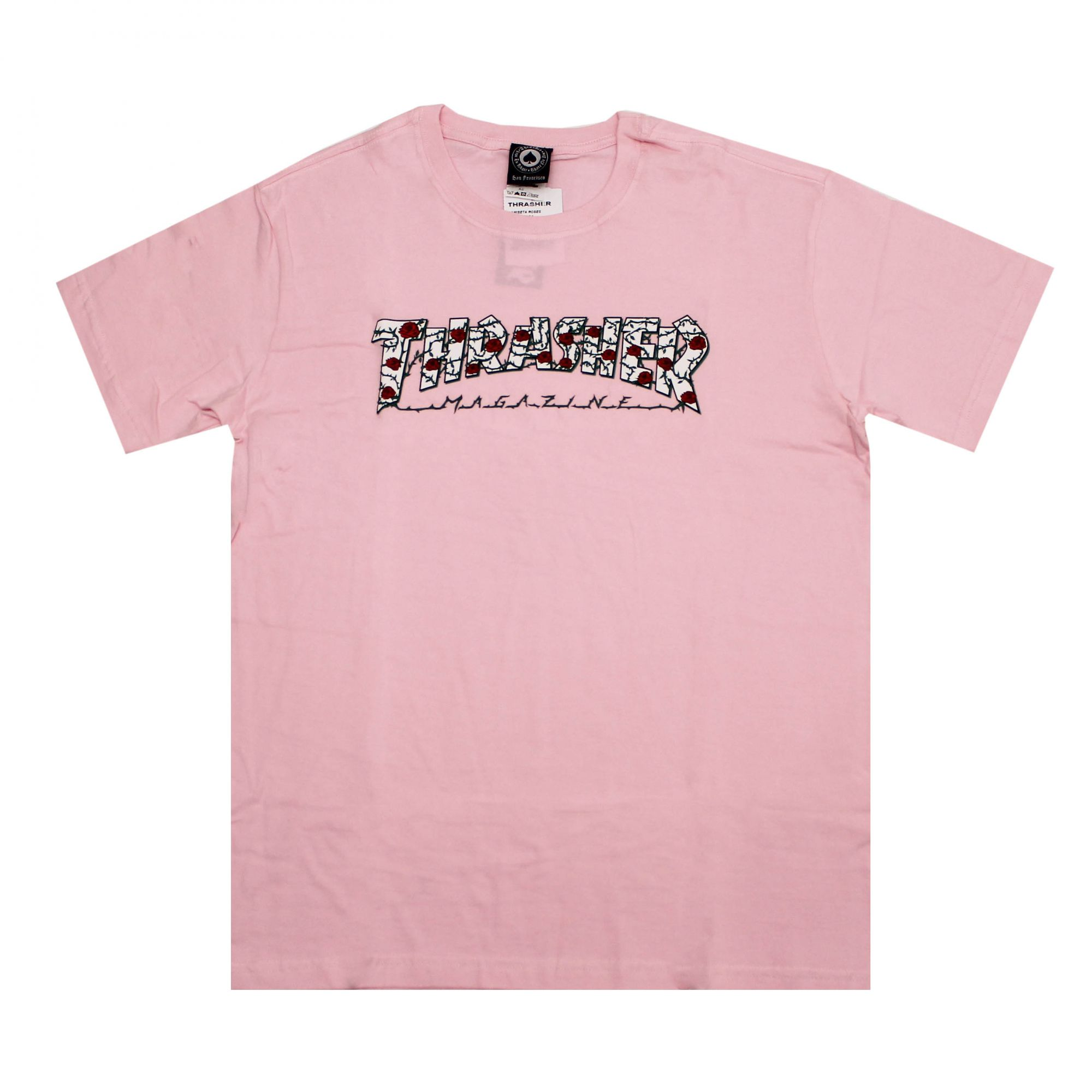 Camiseta Thrasher Magazine Roses - Rosa Claro