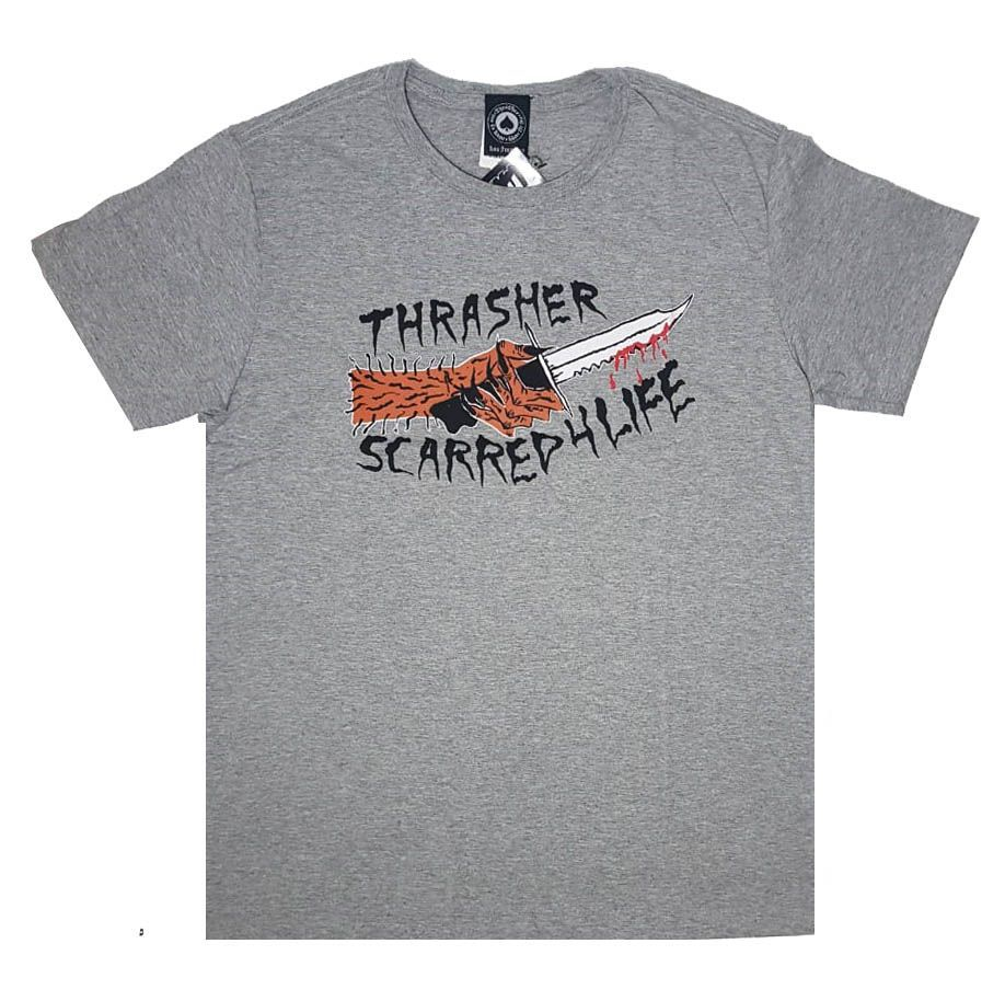 Camiseta Thrasher Magazine Scarred Grey