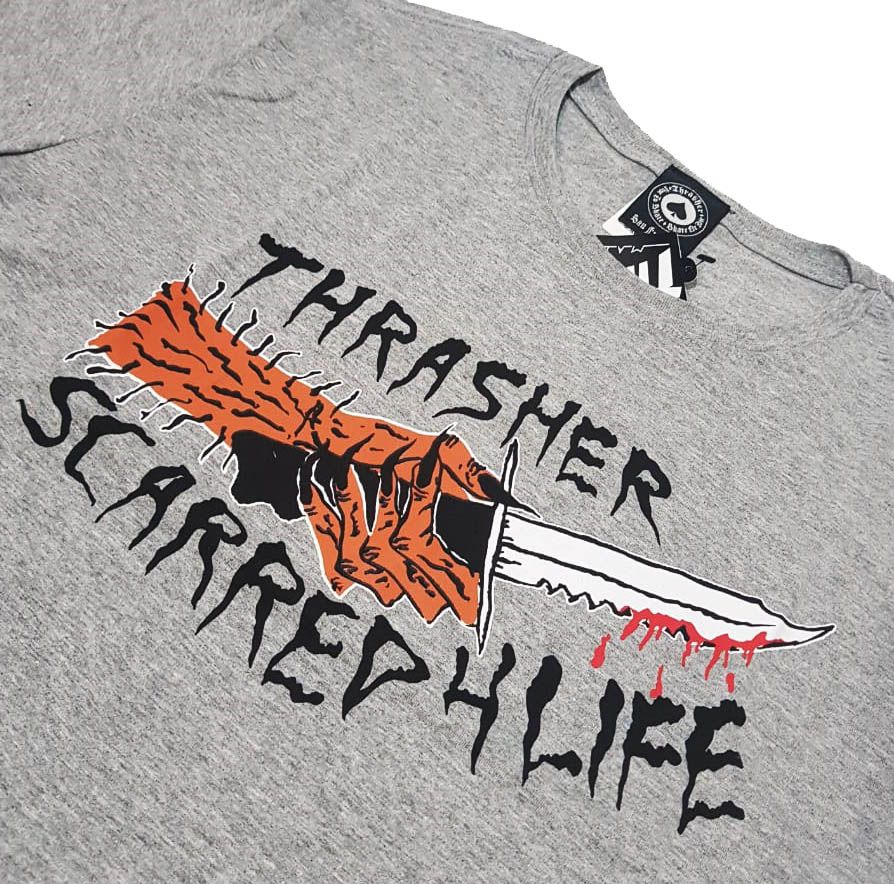 Camiseta Thrasher Magazine Scarred Grey