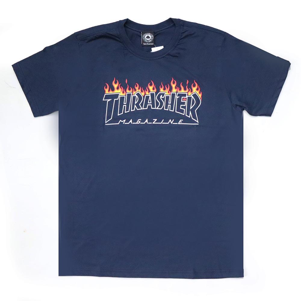 Camiseta Thrasher Magazine Scorched - Azul Marinho