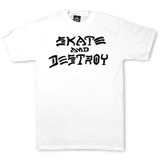 Camiseta Thrasher Magazine Skate And Destroy - Branco